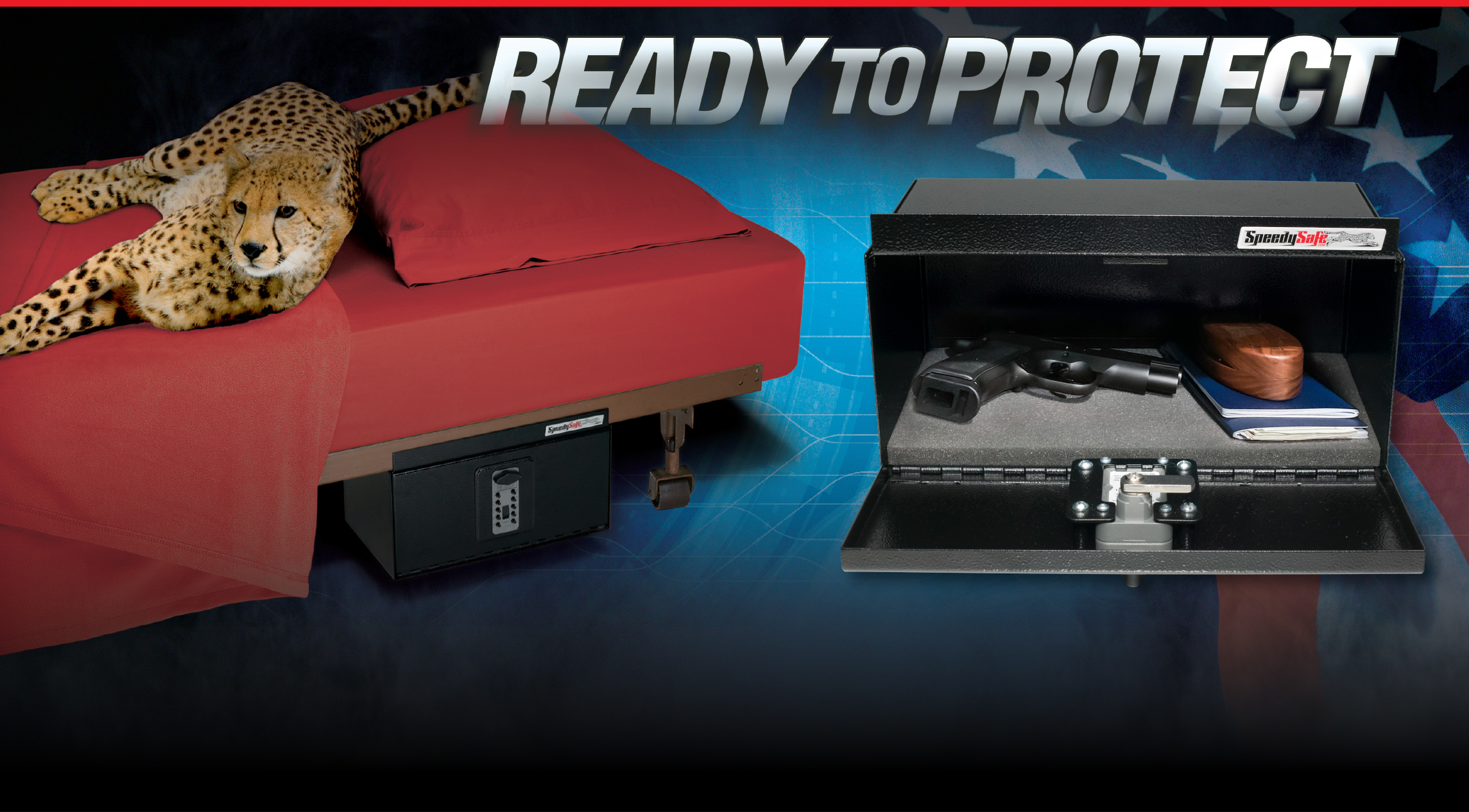 SpeedySafe Bed Mounted Safe
